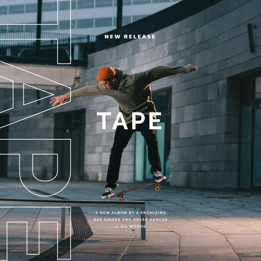 Man riding Skateboard —デザインを作成する