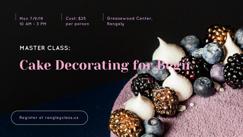 Confectionery Workshop Ad Cake with raw Berries — Crear un diseño