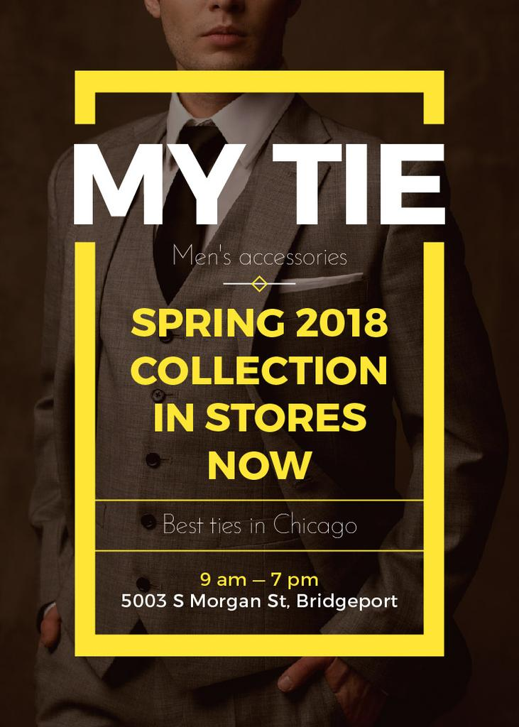 Handsome Man wearing Suit and Tie — Modelo de projeto