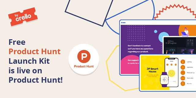 Product Hunt Launch Kit Offer with Digital Devices Screen Twitter – шаблон для дизайна