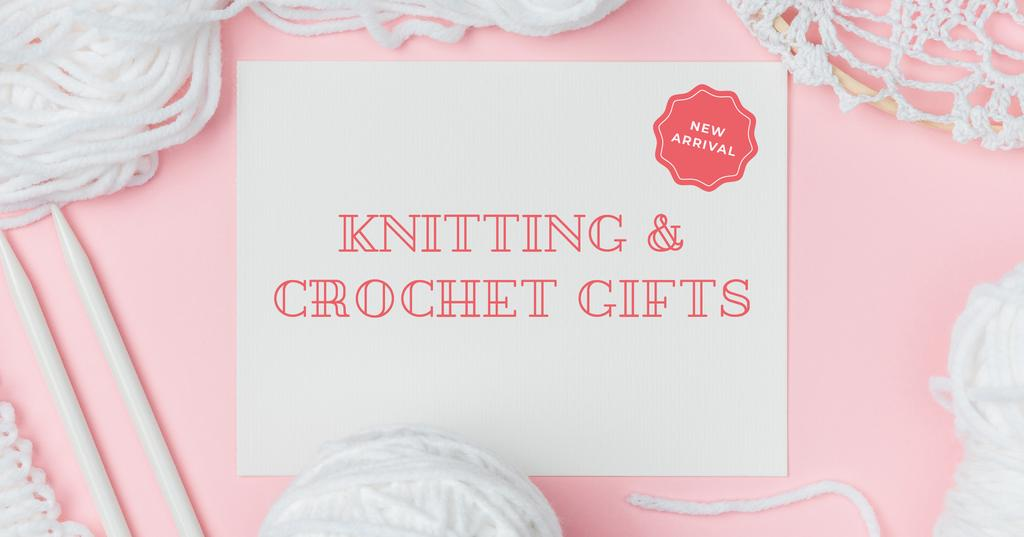 Knitting and Crochet Store in White and Pink — ein Design erstellen