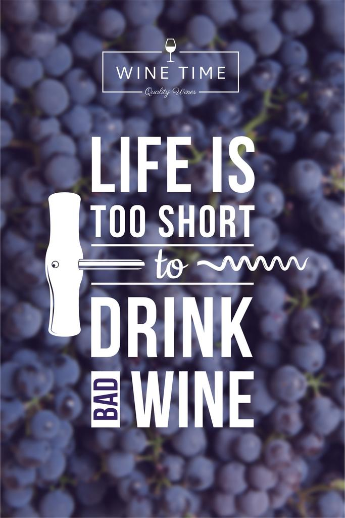 Wine quote on currants background — Create a Design