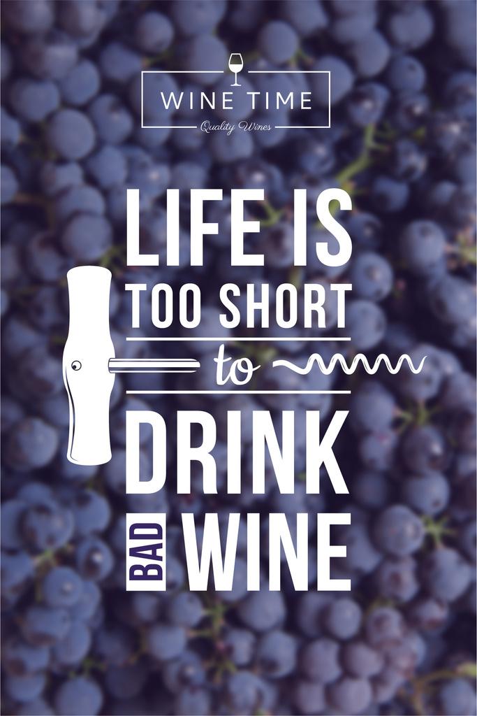 Wine quote poster — Maak een ontwerp