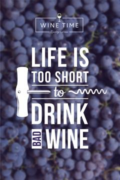 Wine quote on currants background