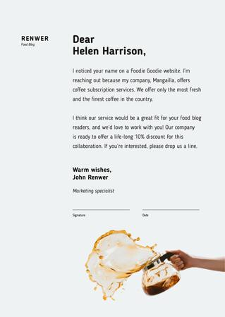 Ontwerpsjabloon van Letterhead van Coffee subscription services offer