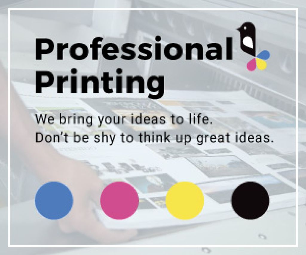 Professional printing poster — Créer un visuel