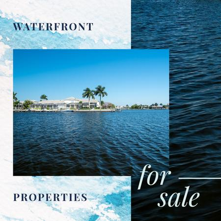 Real Estate Sale Houses at Sea Coastline Instagram ADデザインテンプレート