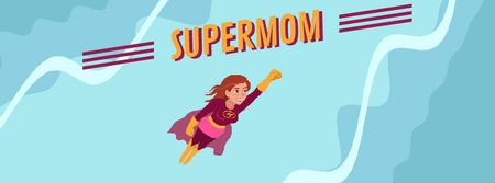 Template di design Superwoman Flying in the Sky Facebook Video cover
