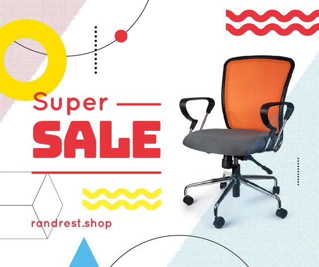 Furniture Offer Office Chair Facebook Πρότυπο σχεδίασης