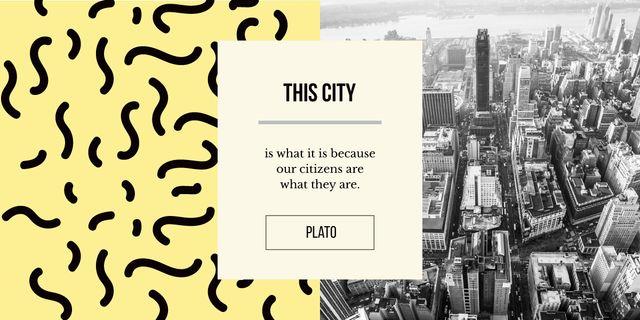 Plantilla de diseño de View of modern city buildings Image