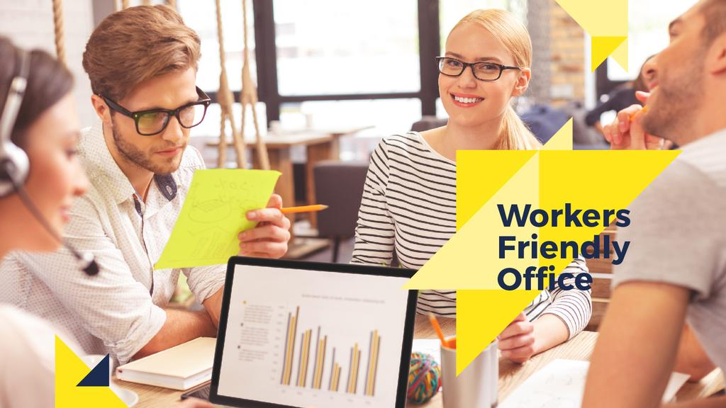 Workers friendly office — Crear un diseño