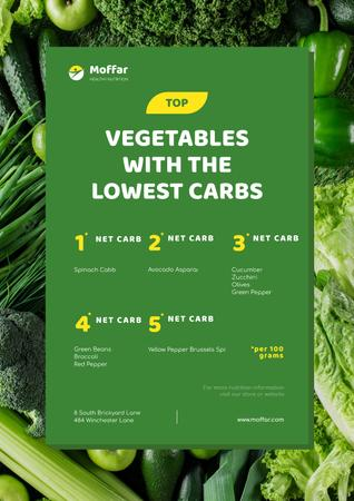 Template di design Vegetables with lowest Carbs Poster