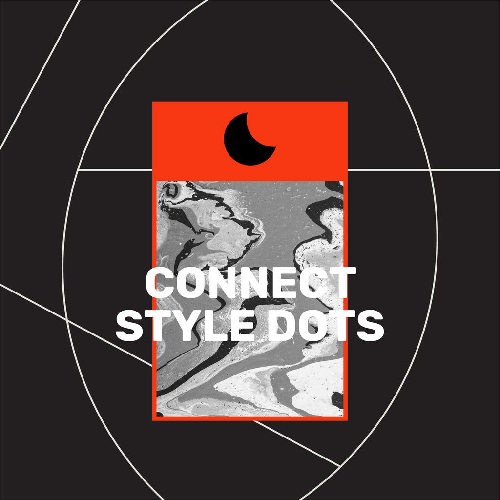 Modèle de visuel Creative Style Inspiration on black background - Instagram
