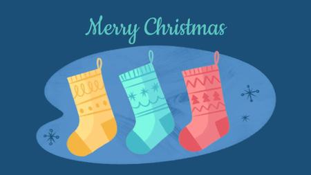 Modèle de visuel Elves in Christmas socks - Full HD video