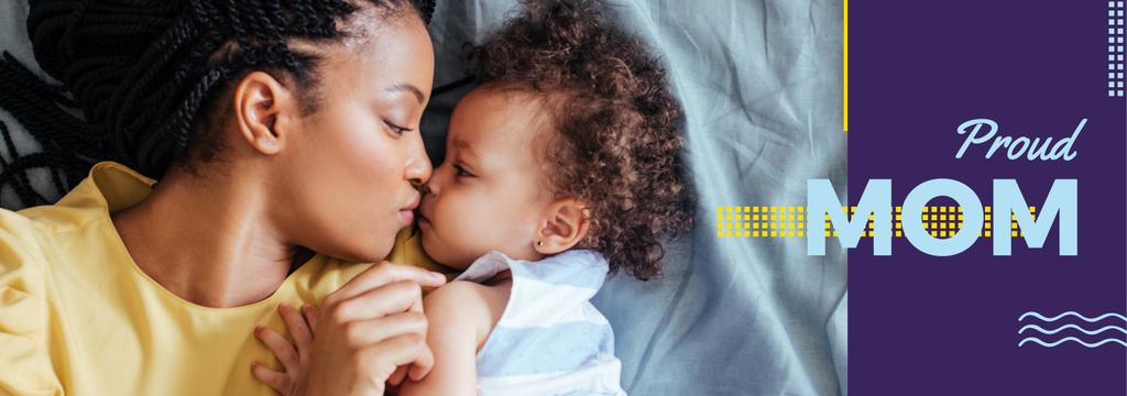 Happy Mother with Child Daughter | Tumblr Banner Template — Create a Design