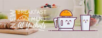 Breakfast Menu Promotion Citrus Juicer with Glass