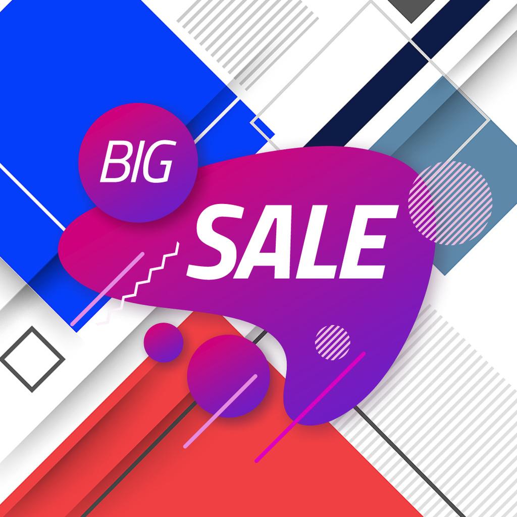 Sale Announcement Moving Blots and Rectangles — Modelo de projeto