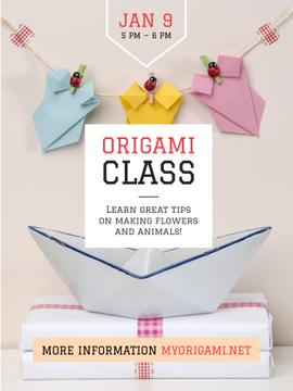 Origami Classes Invitation Paper Garland