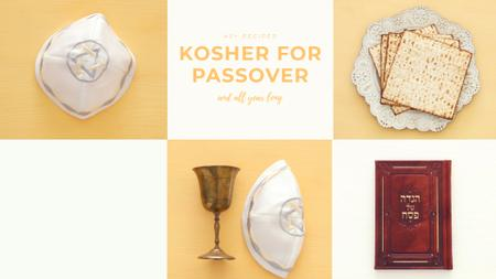 Template di design Happy Passover Celebration Attributes Full HD video