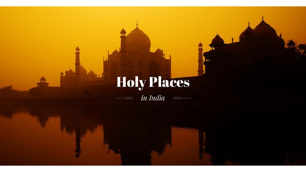 Holy places in India banner with temple — Create a Design