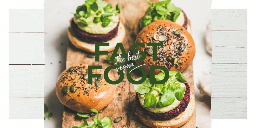 Mouthwatering fast food burgers — Créer un visuel