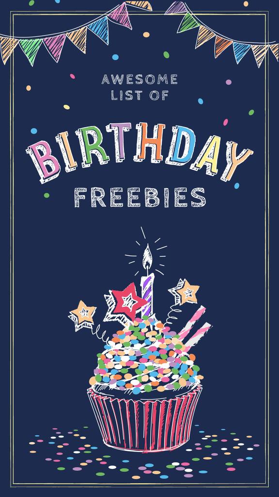 Birthday candle on cupcake — Modelo de projeto