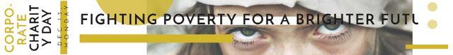 Ontwerpsjabloon van Leaderboard van Corporate Charity Day