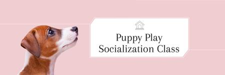 Template di design Puppy play socialization class Twitter