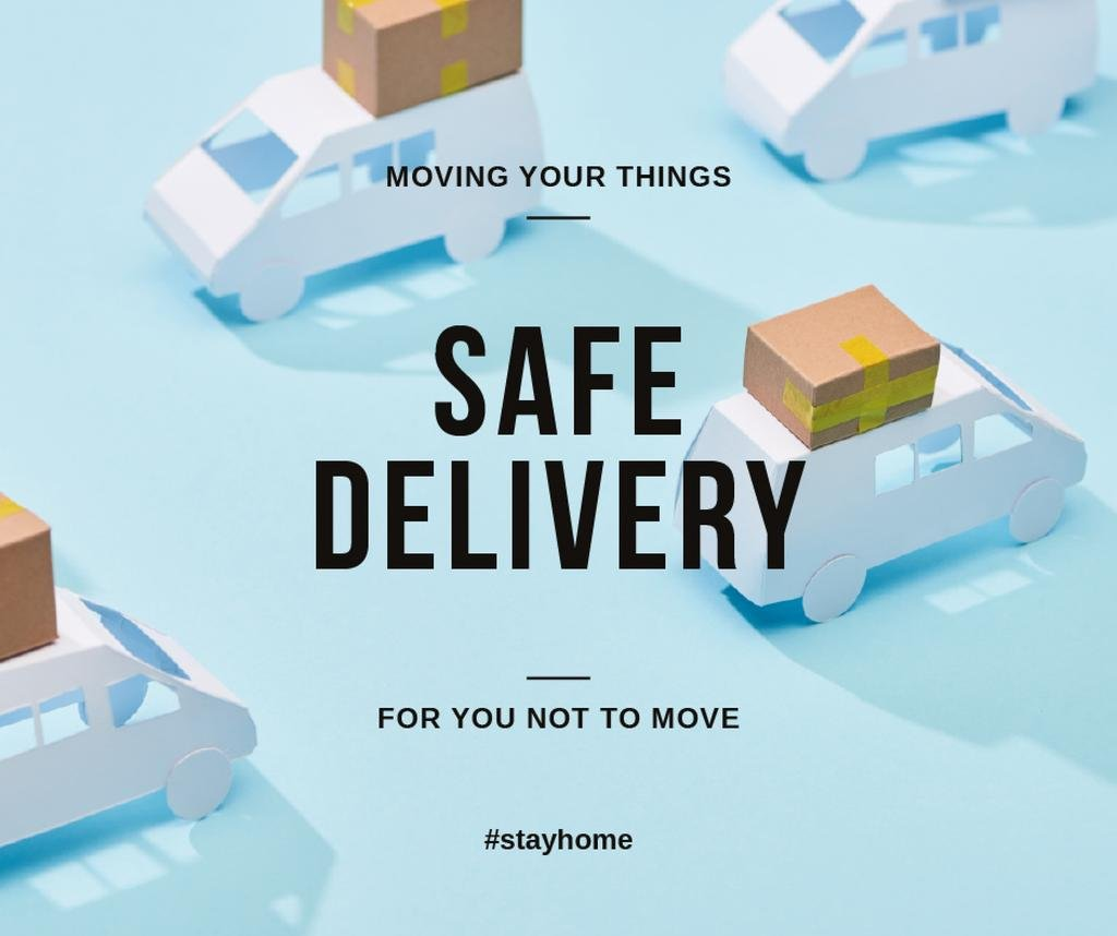 #StayHome Delivery Services offer with cars — Crea un design