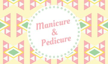 Manicure and pedicure poster