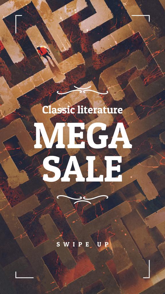 Literature Sale  ad on Labyrinth — Créer un visuel
