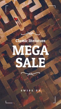Ontwerpsjabloon van Instagram Story van Literature Sale  ad on Labyrinth