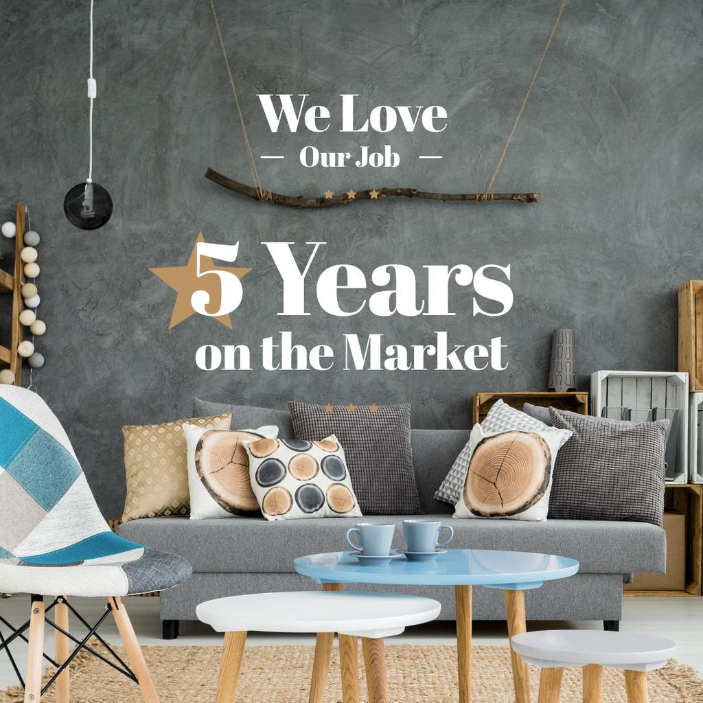 We love our job poster for furniture shop — Créer un visuel