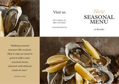 New Seasonal Menu with Seafood