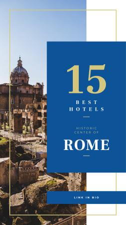 Plantilla de diseño de Rome city ruins Instagram Story