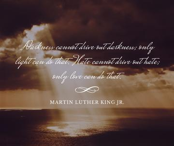 Martin Luther King quote on sunset sky