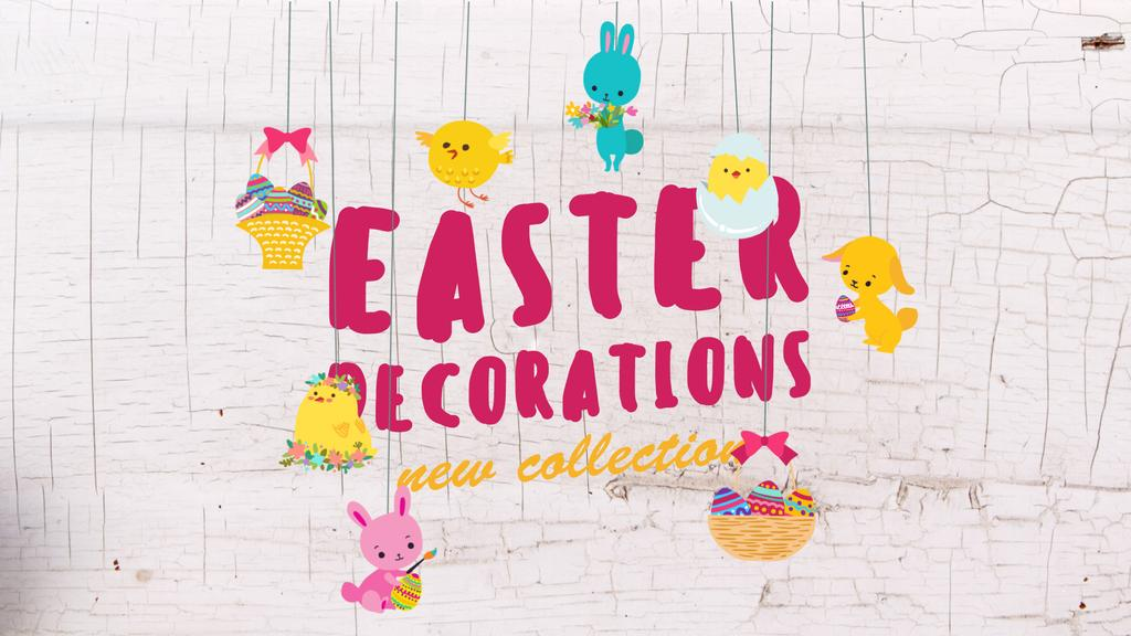Easter Decorations Offer Cute Animals Toys — Створити дизайн