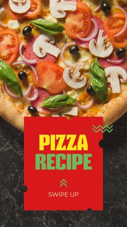 Modèle de visuel Delicious Italian Pizza menu - Instagram Story