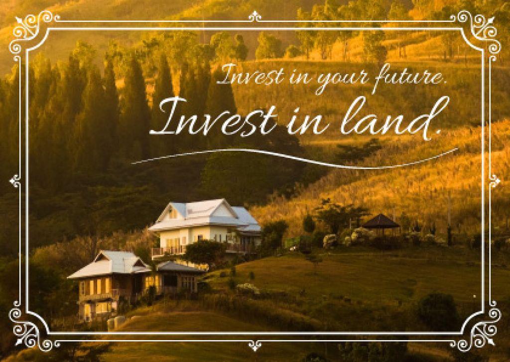 Invest in land poster — Modelo de projeto