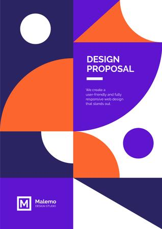 Designvorlage Design Services offer on geometric pattern für Proposal