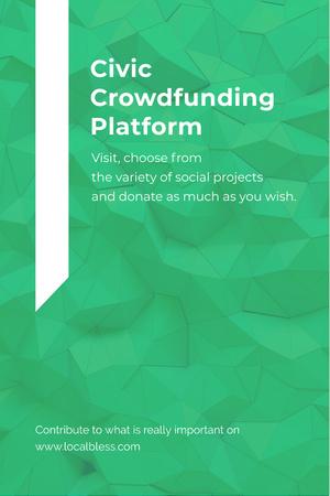 Modèle de visuel Civic Crowdfunding Platform - Pinterest