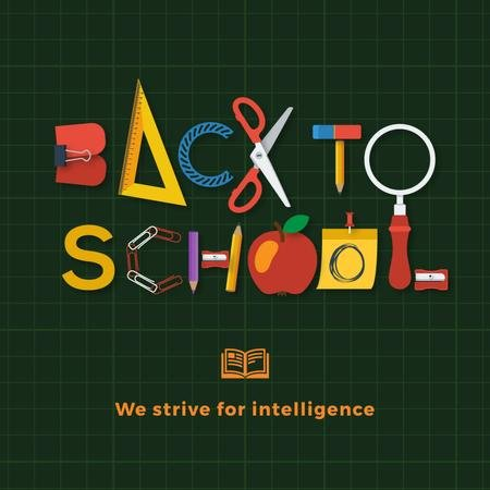 Plantilla de diseño de Back To School on Green Animated Post