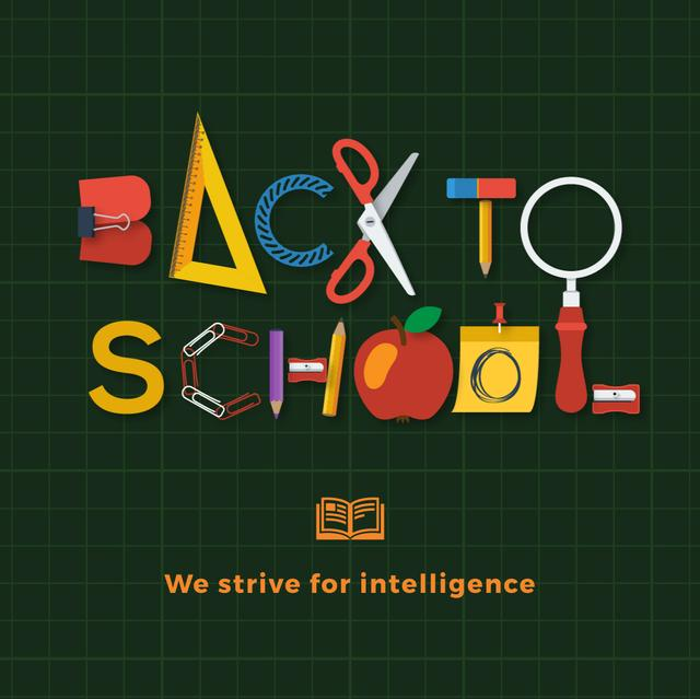 Back To School on Green Animated Post Design Template