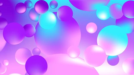 Bright Bubbles digital pattern Zoom Background – шаблон для дизайну