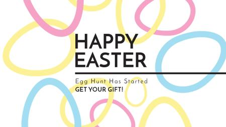 Egg Hunt Offer with rotating Easter Eggs Full HD video Modelo de Design
