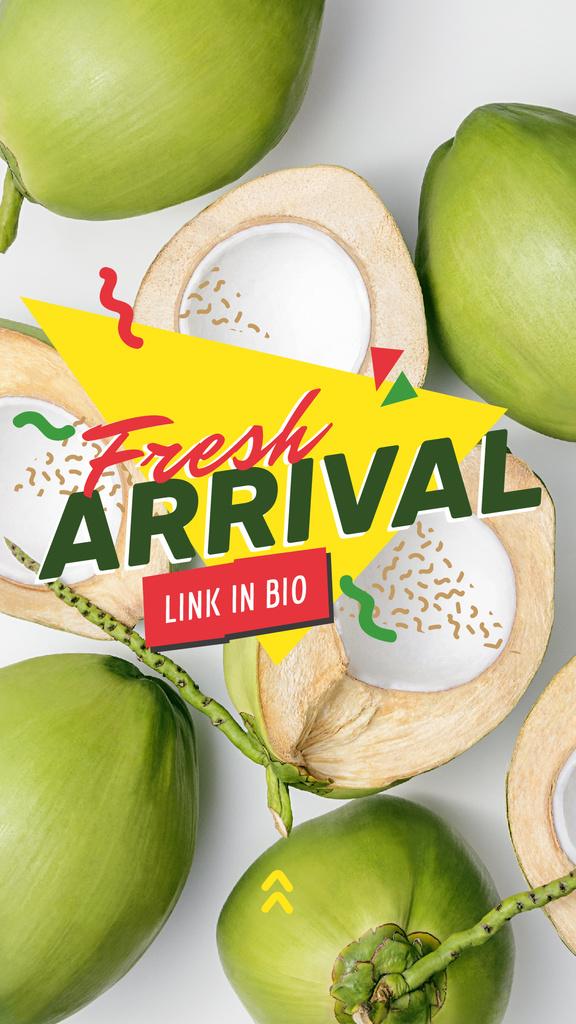 Fresh green coconuts Sale — Создать дизайн