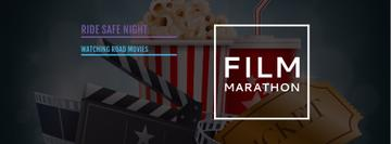 Movie Night Invitation Cinema Attributes | Facebook Cover Template