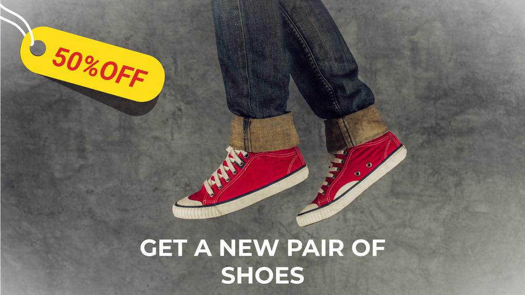 Running feet in red plimsolls — Maak een ontwerp