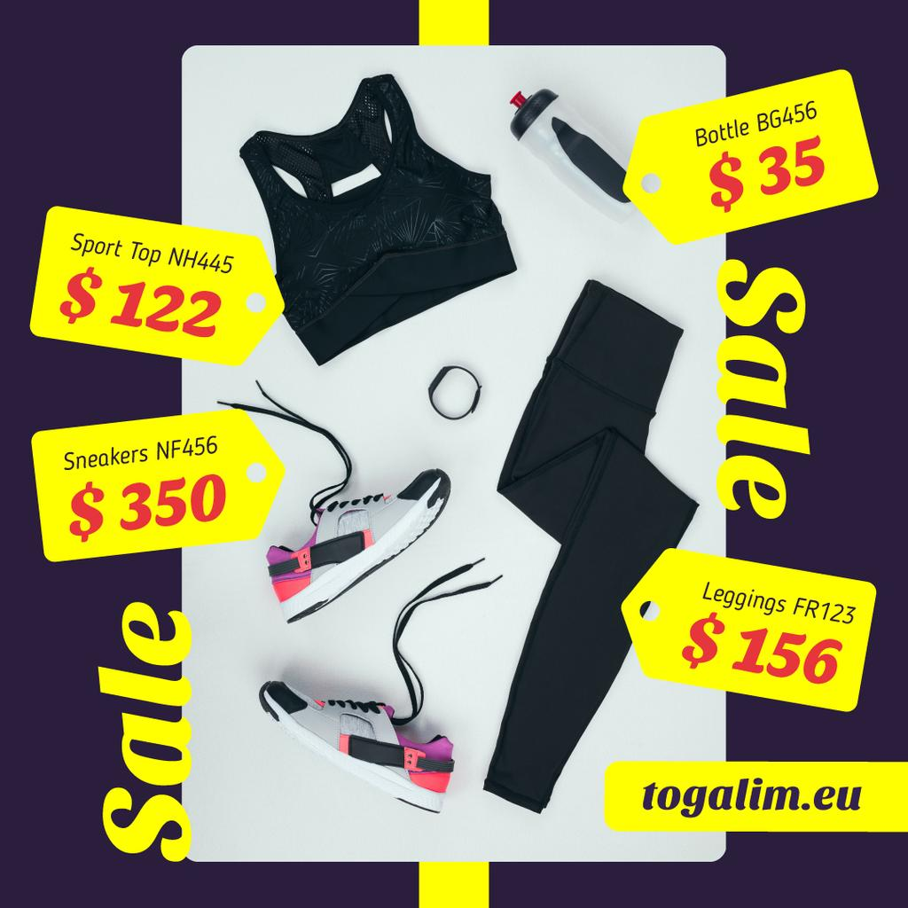 Sale Offer Sports Equipment in Black — Crear un diseño