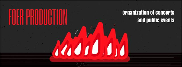 Plantilla de diseño de Burning fire flames for production studio Facebook Video cover